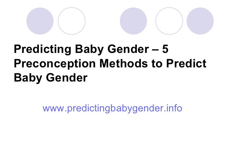 predict the baby sex