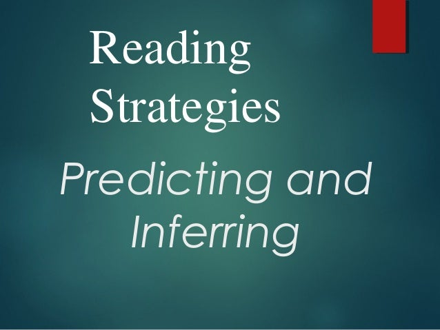 Predicting and Inferring Reading Strategies
