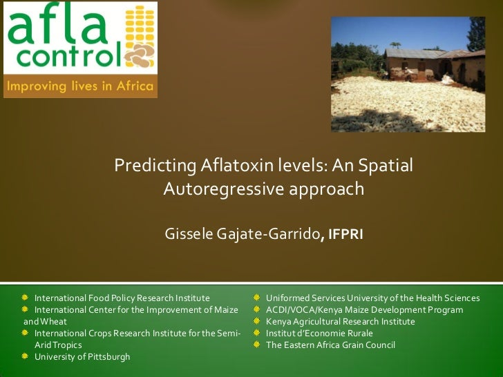 Predicting Aflatoxin levels: An Spatial                            Autoregressive approach                                ...
