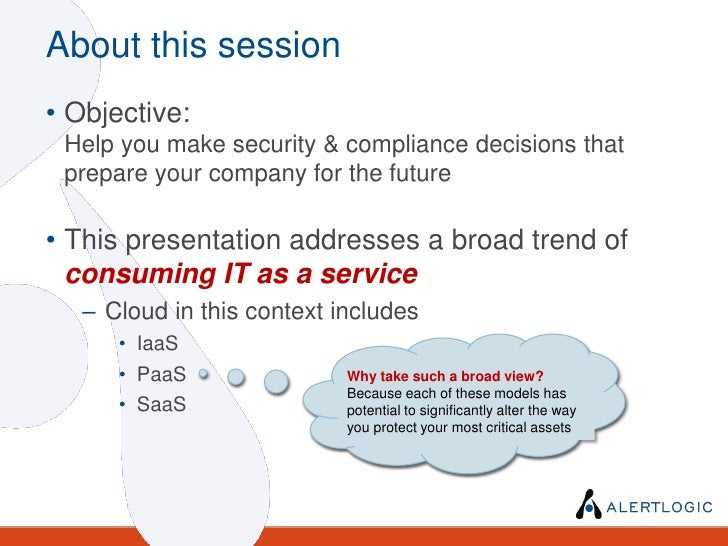 Predicting The Future: Security and Compliance in the Cloud Age Slide 3