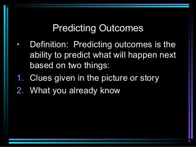 Predicting outcomes(Michael)