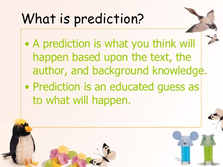Prediction And Inference