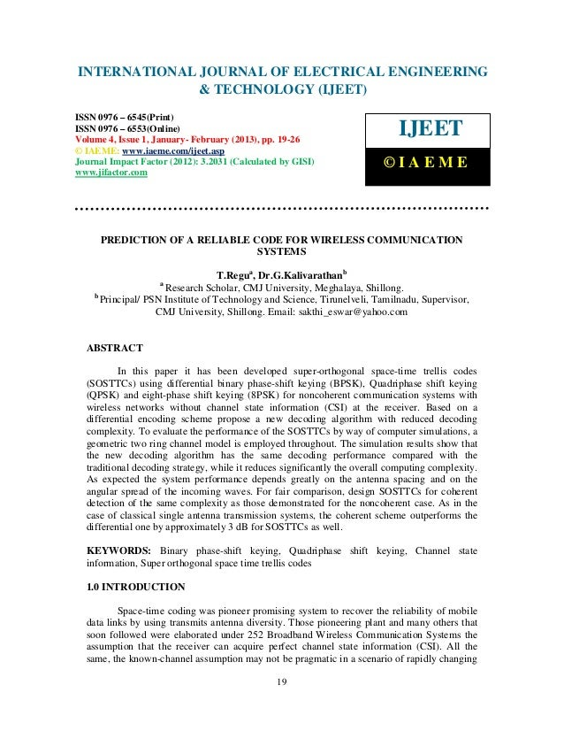 INTERNATIONAL Electrical EngineeringELECTRICAL ENGINEERING International Journal of                            JOURNAL OF ...