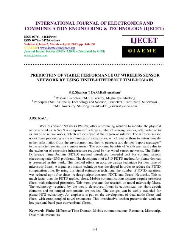 International Journal of Electronics and Communication Engineering & Technology (IJECET), ISSN        INTERNATIONAL JOURNA...
