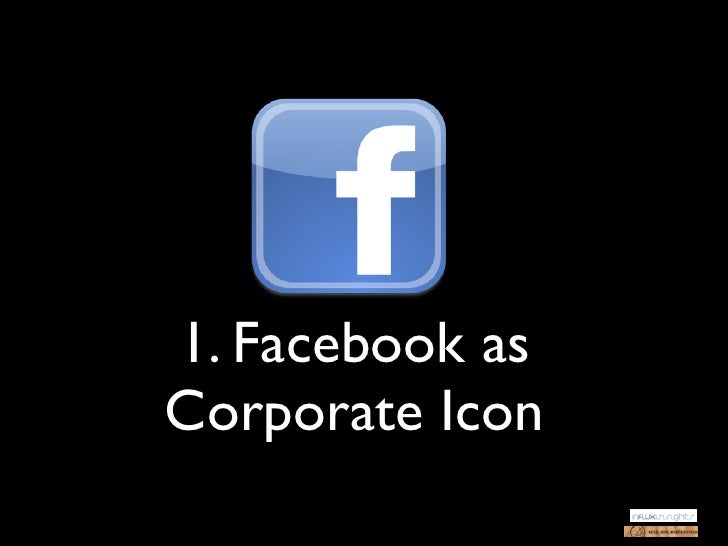 1. Facebook asCorporate Icon