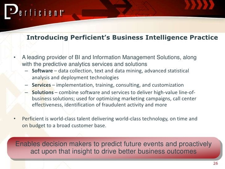 Introducing Perficient's Business Intelligence Practice   •   A leading provider of BI and Information Management Solution...