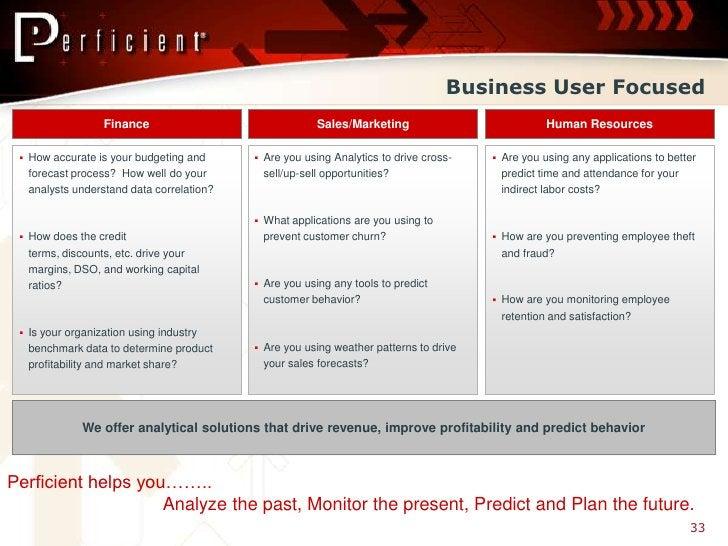 Business User Focused                   Finance                               Sales/Marketing                           Hu...