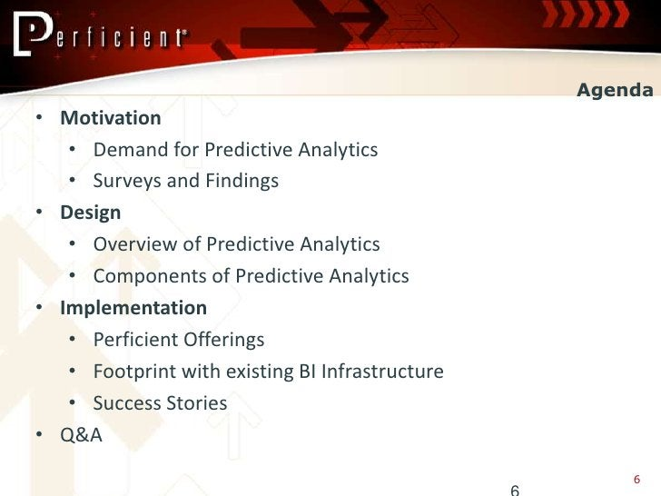Agenda • Motivation    • Demand for Predictive Analytics    • Surveys and Findings • Design    • Overview of Predictive An...