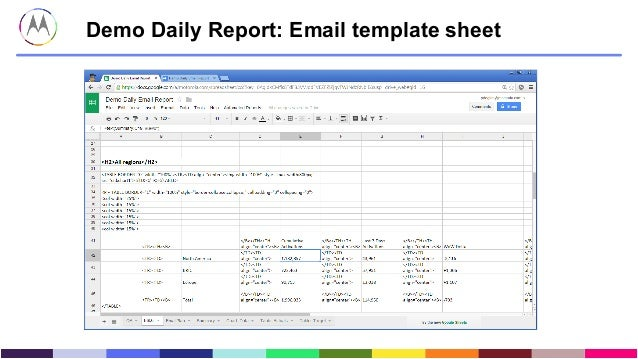 Reporting At Motorola Predictive Analytics Business Insights - Demo email template