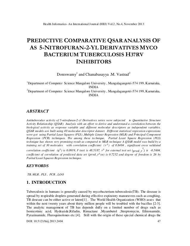 Health Informatics- An International Journal (HIIJ) Vol.2, No.4, November 2013  PREDICTIVE COMPARATIVE QSAR ANALYSIS OF AS...