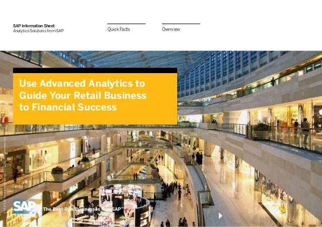 SAP Information Sheet Analytics Solutions from SAP  Quick Facts  © 2014 SAP AG or an SAP affiliate company. All rights res...