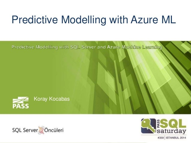 predictive modelling with azure ml