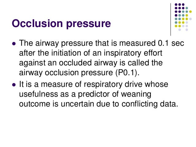 Airway Occlusion Pressure to Titrate Positive End-expiratory ...
