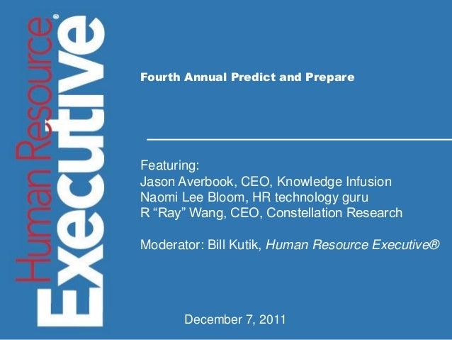 Insert Presentation Title Insert Date Insert Presenter and Title Fourth Annual Predict and Prepare Featuring: Jason Averbo...
