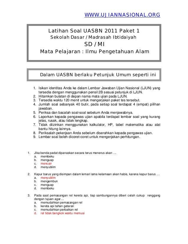 Soal Un Sd 2015 Jawa Tengah