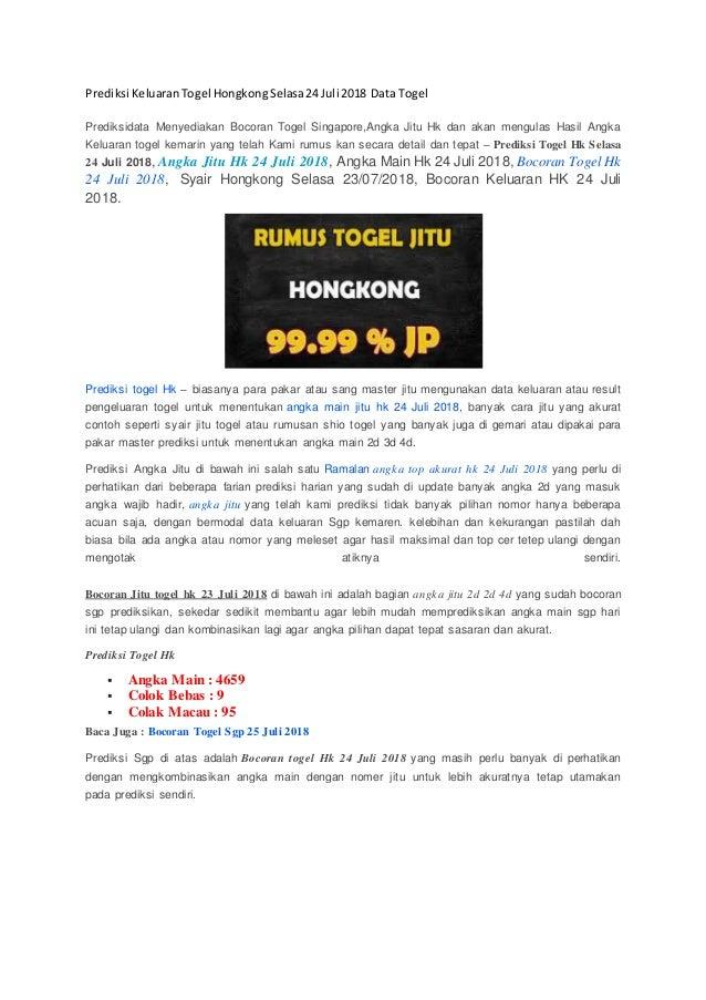 Prediksi Keluaran Togel Hongkong Selasa  Data Togel