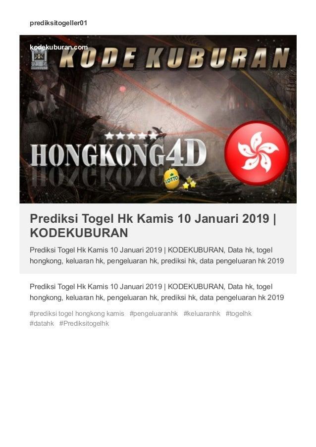 Pengeluaran togel hk 2019