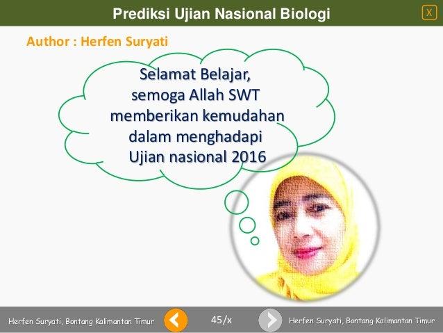 Prediksi Un Biologi 2016