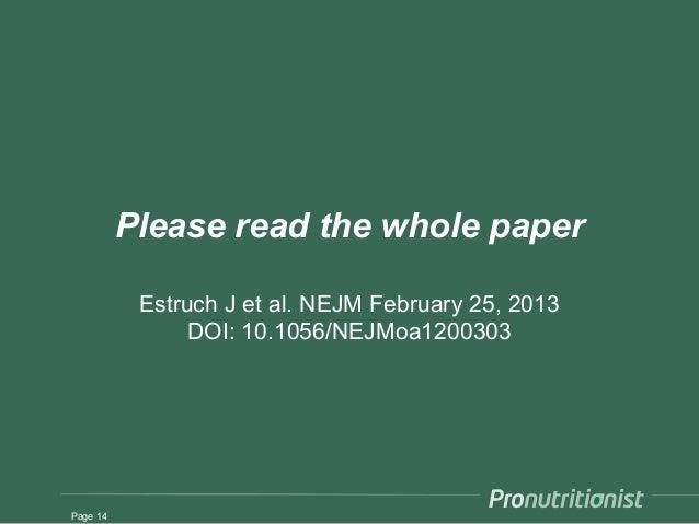 Predimed study 2013 - SlideShare