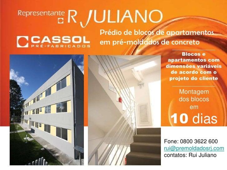 Prédio de blocos de apartamentos <br />em pré-moldados de concreto <br />_________________<br />Blocos e apartamentos com ...