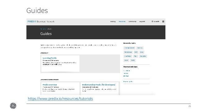 Guides 26 https://www.predix.io/resources/tutorials