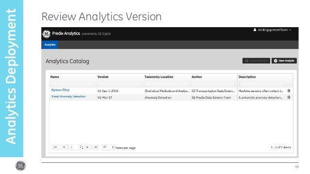 Review Analytics Version 40 AnalyticsDeployment