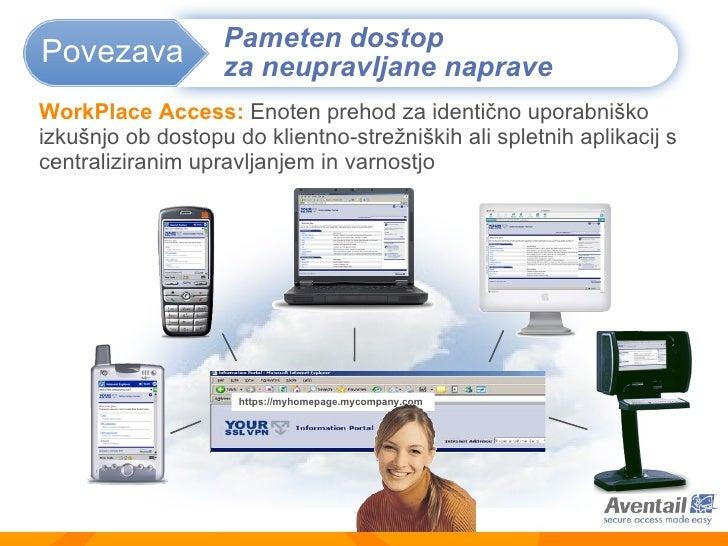 WorkPlace  Access :   Enoten prehod za identično uporabniško izkušnjo ob dostopu do klientno-strežniških ali spletnih apli...