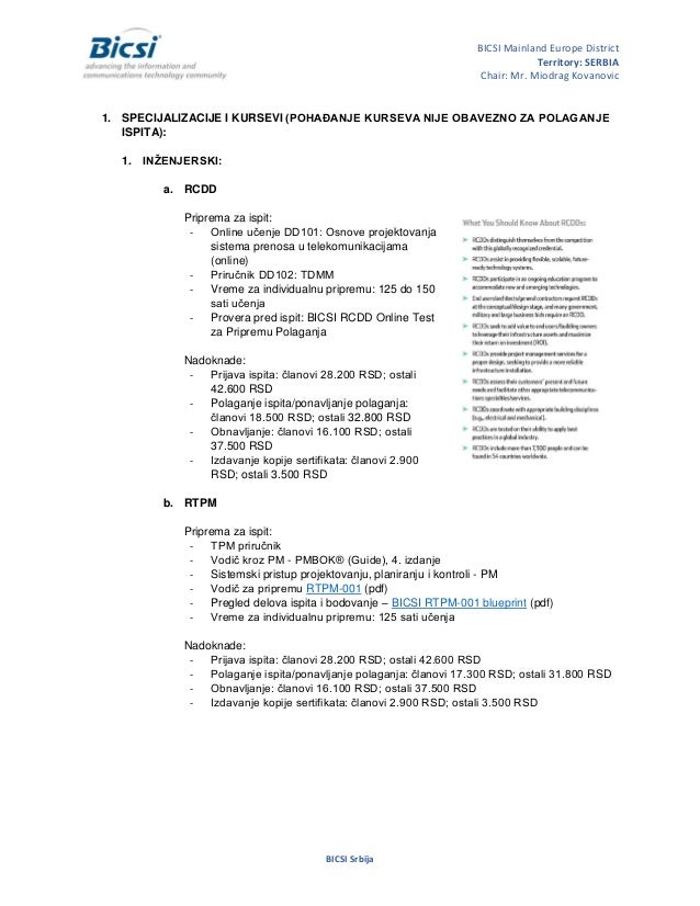 Bicsi Serbia Predstavljanje Individualno članstvo