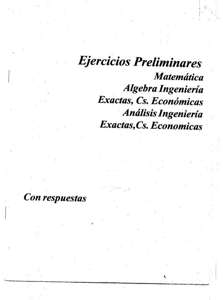 Ejercicios Preliminares Matemática