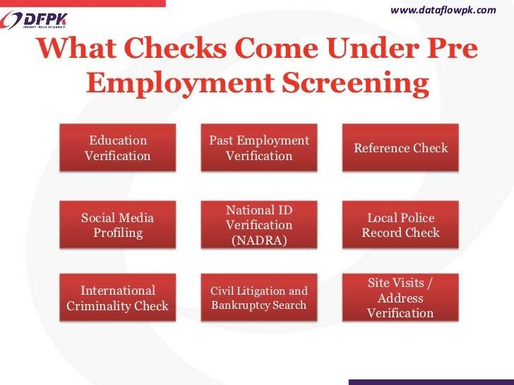 pre employment screening presentation