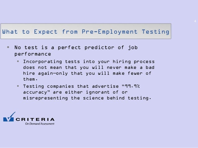 Pre-Employment Testing- What to Expect