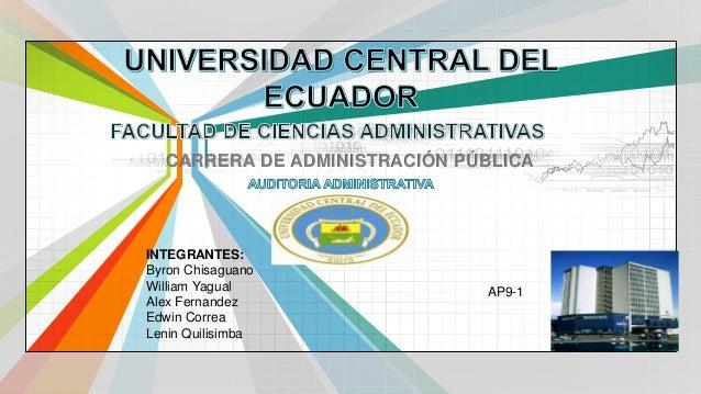 L/O/G/O  www.themegallery.com  CARRERA DE ADMINISTRACIÓN PÚBLICA  INTEGRANTES:  Byron Chisaguano  William Yagual  Alex Fer...