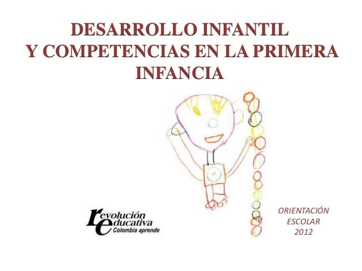 DESARROLLO INFANTILY COMPETENCIAS EN LA PRIMERA         INFANCIA                      ORIENTACIÓN                        E...