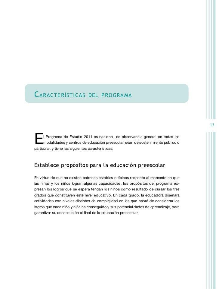 Pep 2011 for Estandares para preescolar