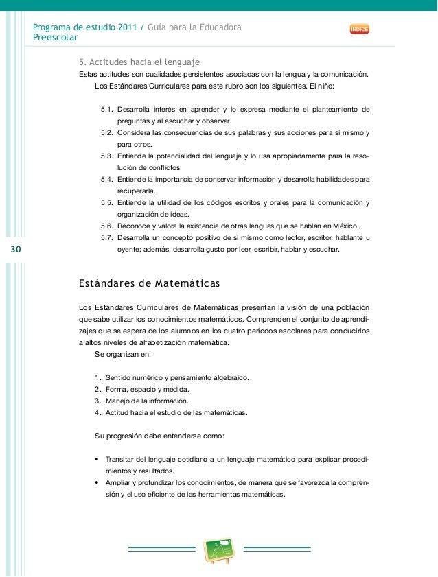 Preescolar2011 for Estandares para preescolar