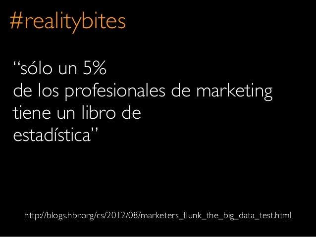 """""""sólo un 5%de los profesionales de marketingtiene un libro deestadística""""#realitybiteshttp://blogs.hbr.org/cs/2012/08/mark..."""