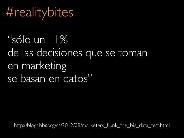 """sólo un 11%de las decisiones que se tomanen marketingse basan en datos""#realitybiteshttp://blogs.hbr.org/cs/2012/08/marke..."