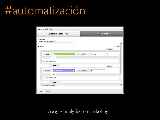 #automatizacióngoogle analytics remarketing