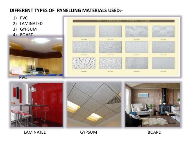 Panel Dimensions 6 DIFFERENT TYPES OF PANELLING MATERIALS