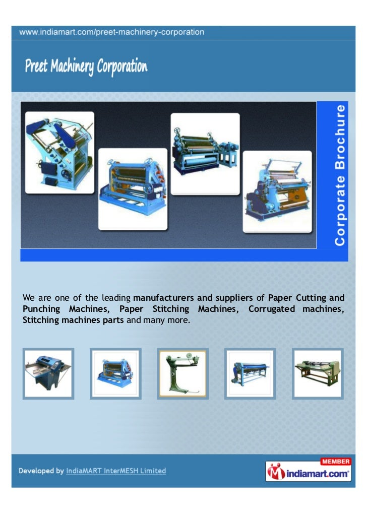 We are one of the leading manufacturers and suppliers of Paper Cutting andPunching Machines, Paper Stitching Machines, Cor...