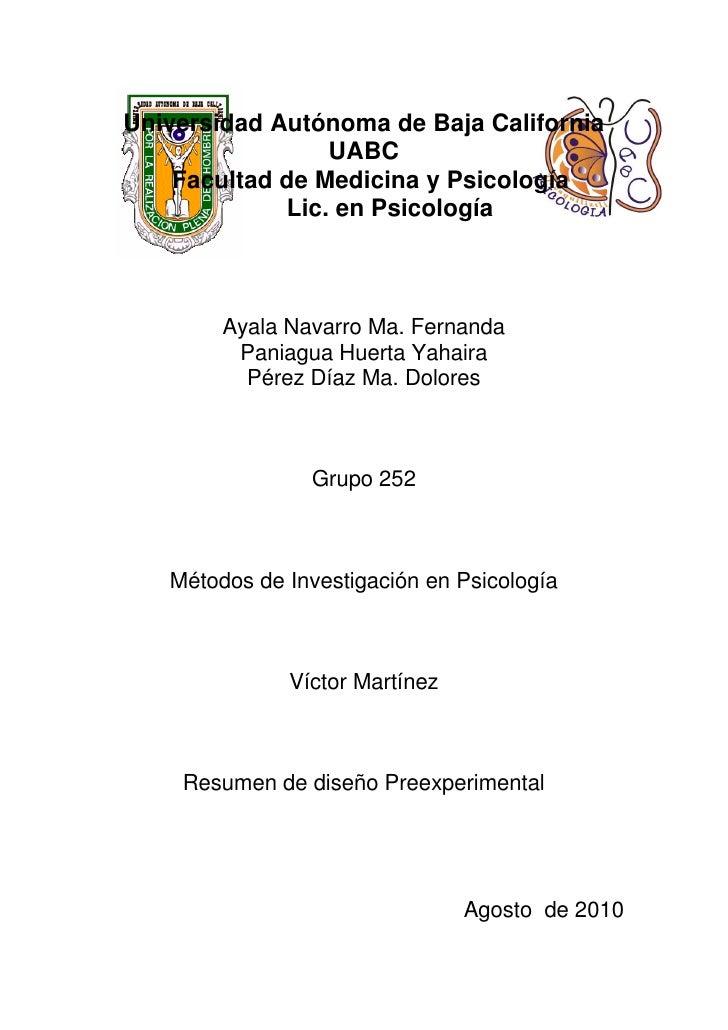 Universidad Autónoma de Baja California                  UABC     Facultad de Medicina y Psicología              Lic. en P...