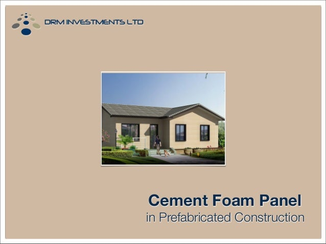 Cement Foam Panel in Prefabricated Construction