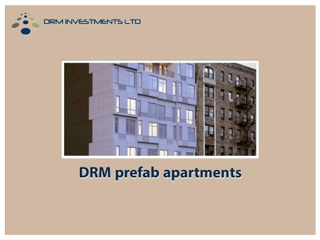 DRM prefab apartments