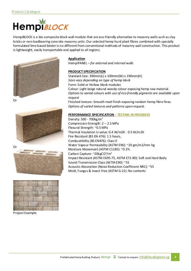 Prefabricated Hempcrete Product Catalogue 2015 By Studio