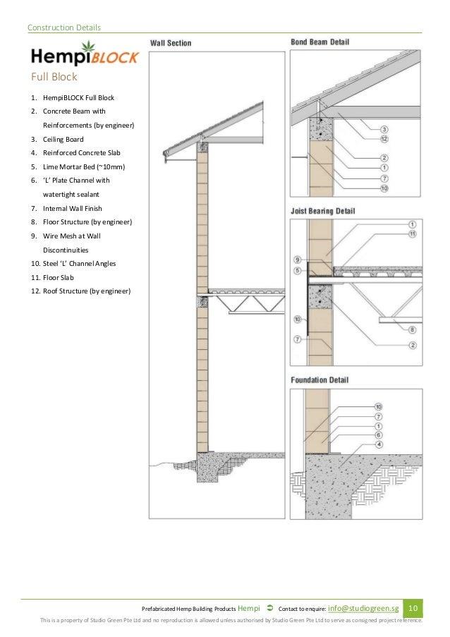 Prefabricated Hempcrete Specification And Installation