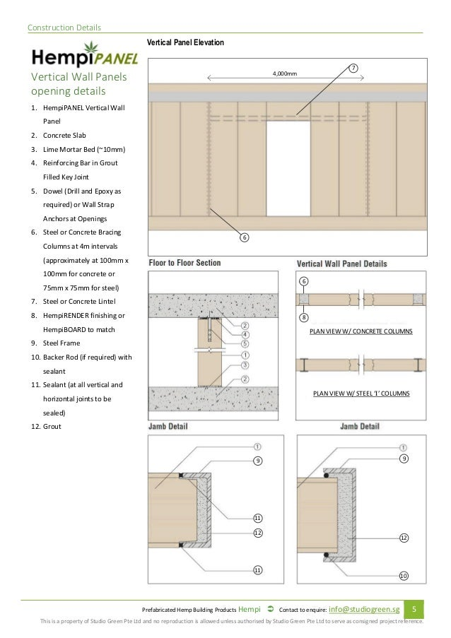 Prefabricated Hempcrete Specification And Installation