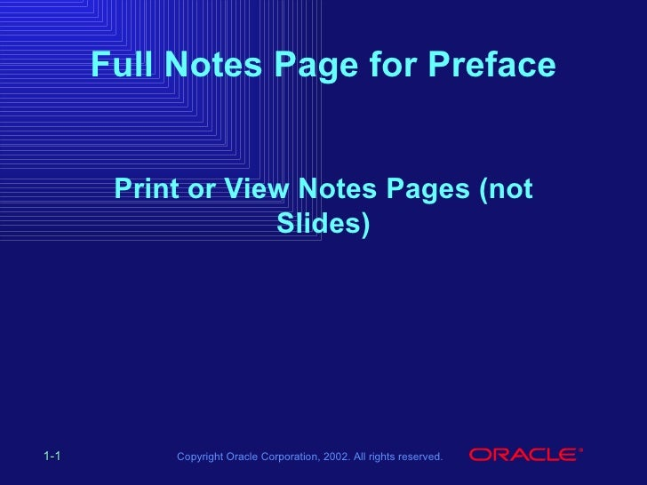 Full Notes Page for Preface Print or View Notes Pages (not Slides)