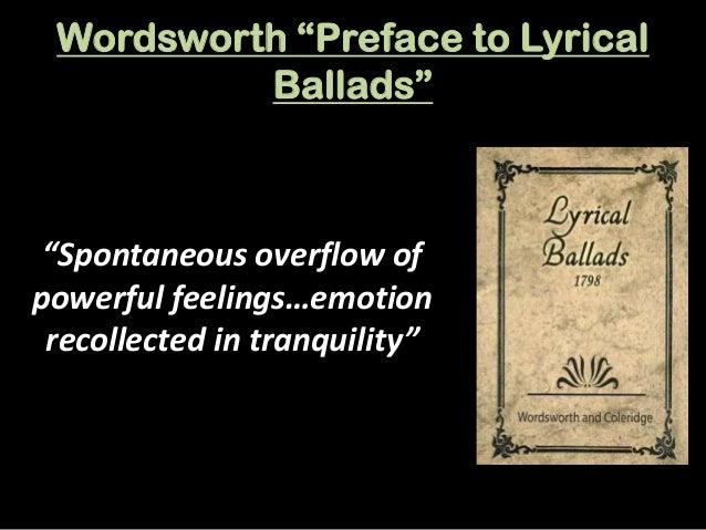 preface to lyrical ballads by wordsworth essay
