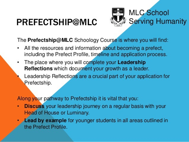Prefect Application Letter