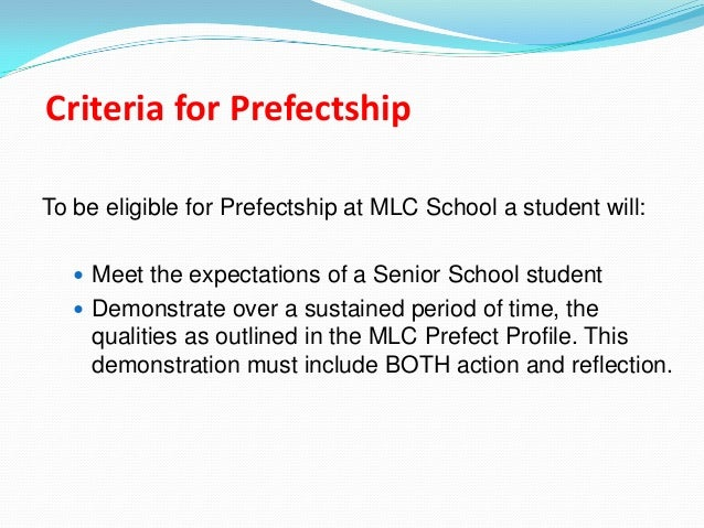 Rules, Roles & Responsibilities of the Prefects Board